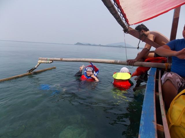 Spot terakhir, pulau Pahawang. Foto: Citra Dewi